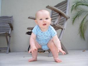 baby standing up from floor