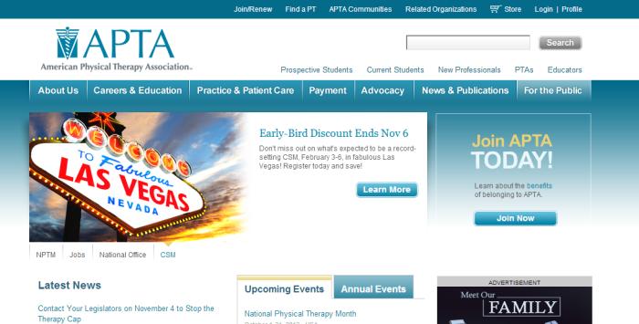 apta homepage