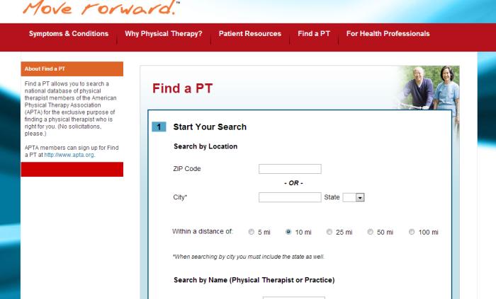 find a PT