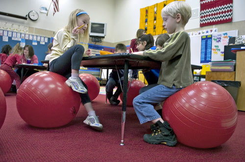 In The News Teacher Uses Exercise Balls To Control